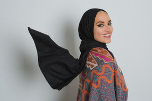 Black Jersey Cotton Scarf - LunasEssentials.com