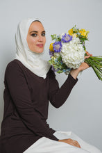 Load image into Gallery viewer, White Bonnet Insta Hijab - LunasEssentials.com