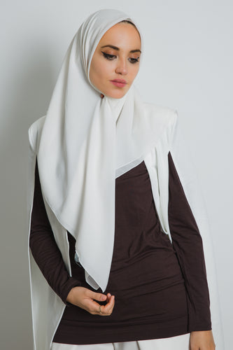 Off-White Square Hijab - LunasEssentials.com