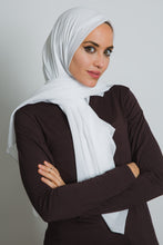 Load image into Gallery viewer, White Square Hijab - LunasEssentials.com