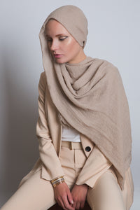 Gold Crinkled Cotton Scarf - LunasEssentials.com