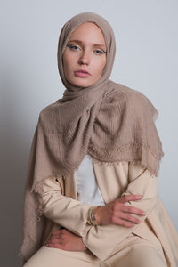 Cafe Crinkled Cotton Scarf - LunasEssentials.com