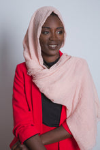 Pink Crinkled Cotton Scarf - LunasEssentials.com