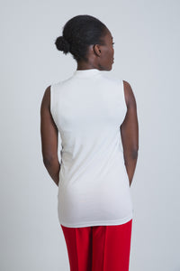 White Cotton Sleevless Body - LunasEssentials.com
