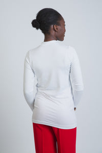 White Cotton Long Sleeve Body - LunasEssentials.com