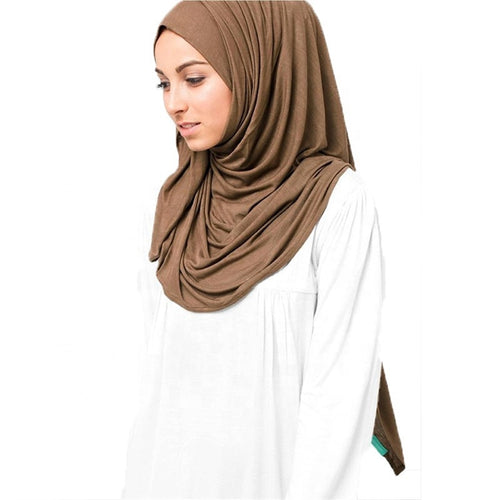 Plain cotton jersey scarf - LunasEssentials.com