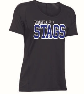UA W Black Stags Tee