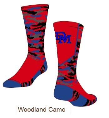 DM Woodland Camo Socks