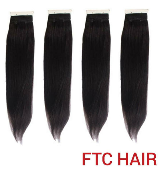 4 BUNDLES, 300g BONE STRAIGHT SINGLE DRAWN VIRGIN HUMAN HAIR 16