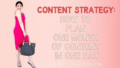 Content Strategy: How To Plan One Month Of Content In One Day
