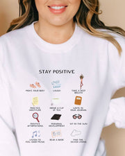 Stay Positive Sweatshirt, girl boss style, girl boss clothing, girl boss quotes, gifts for female entrepreneurs, girl boss gifts, gifts for female ceo, gifts for professional women