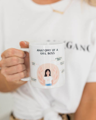 Anatomy Of A Girl Boss Coffee Mug