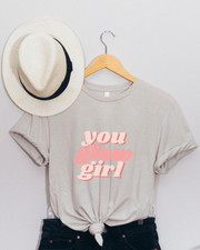 You Glow Girl T-Shirt, girl boss style, girl boss clothing, girl boss quotes, gifts for female entrepreneurs, girl boss gifts, gifts for female ceo, gifts for professional women
