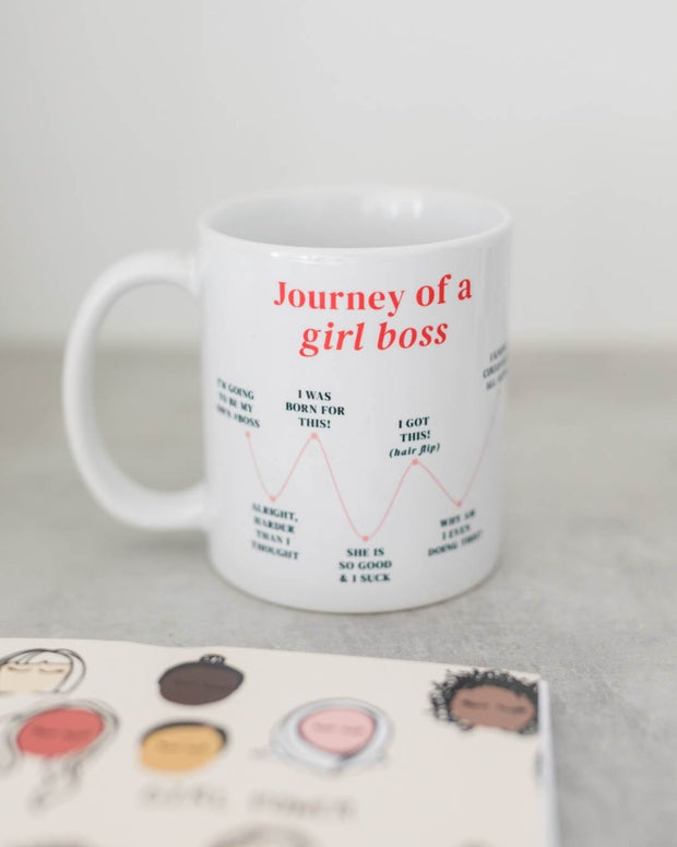 journey of a girl boss coffee mug