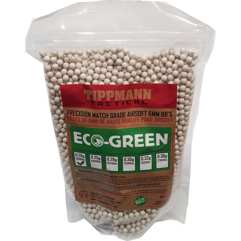 Tippmann ECO-Green Precision Match Grade 6mm Airsoft BB's White