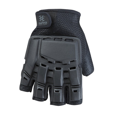 Empire Bt THT Hard Back Fingerless Gloves Black