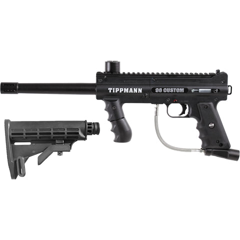 Tippmann Model 98 Platinum Series Custom ACT Gun Black + Adjustable Car Stock