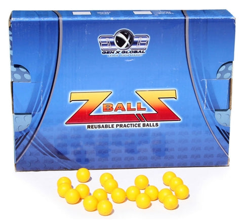 Gen-X Global Re-usable Z-Ball Paintballs - 500 Rounds