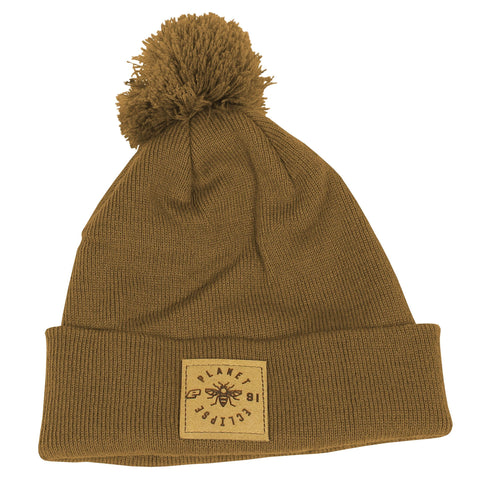 Planet Eclipse Worker Pom Beanie Caramel