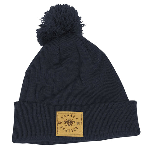Planet Eclipse Worker Pom Beanie French Navy