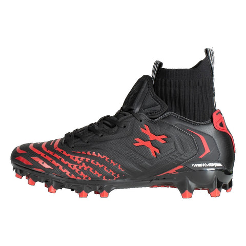 HK Army LT Diggerz X1 - Low Top Cleats - Black / Red