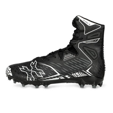 HK Army Digger X1 Hightop Paintball Cleats Black / Grey