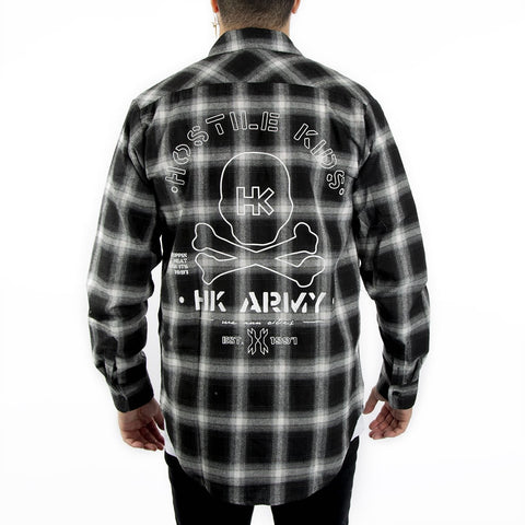 HK Army Collide Flannel Long Sleeve Black