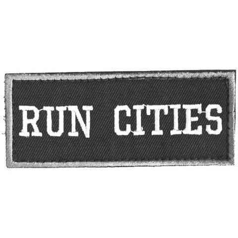 HK Army Patch W/Hook and Loop Fastener Run Cities