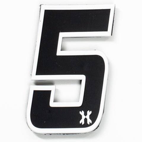 "HK Army Rubber Number Patch W/ Velcro - ""5"""