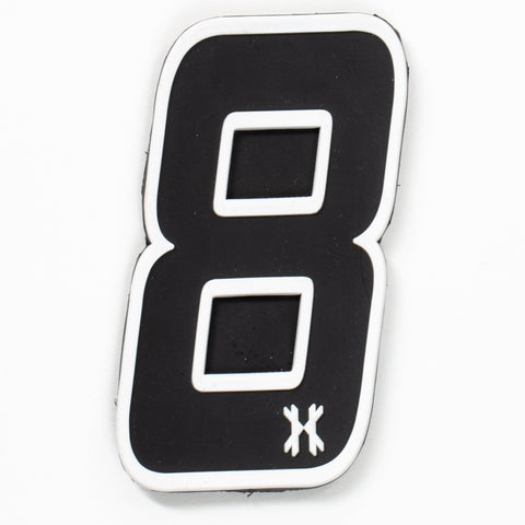 "HK Army Rubber Number Patch W/ Velcro - ""8"""
