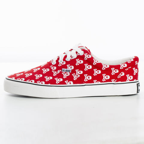 HK Army Canvas Shoe - Skulls Red