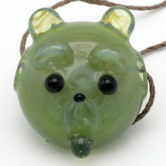 Green Teddy Bear Pendant
