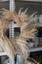 dried wreath - pampas grass