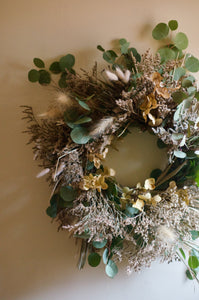 dried wreath - eucalyptus & friends