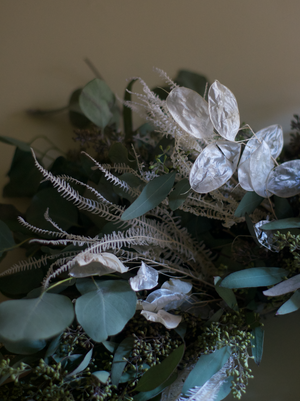Dried Wreath - Euc & Ghost Fern