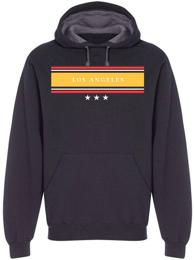 Vintage Stripes Los Angeles Ca Hoodie Men's -Image by Shutterstock