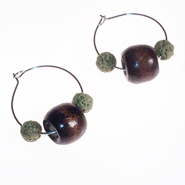 Earrings - Hoop Crystal Diffusers