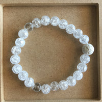 Crystal Connecter Bracelet - Crown Chakra Diffuser = Clear Quartz