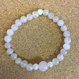 Crystal Love Bracelets - Heart Chakra - Romantic Rose Quartz