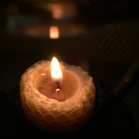 Candles - Flame Meditation (Handrolled Local Beeswax)
