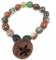 Crystal Protection Bracelet - Agate with Gum Nut Diffuser Charm