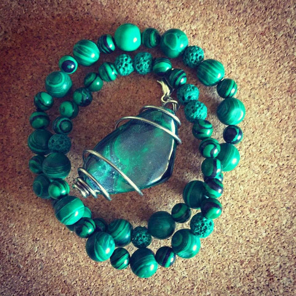 Crystal Transformation Bracelets - Heart Chakra Diffuser- Malachite