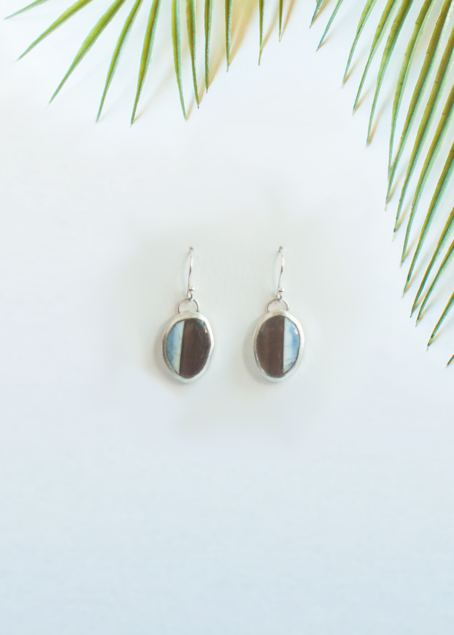 Blue Opal Mix Earrings