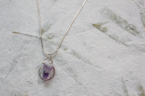 Amethyst Halo Necklace