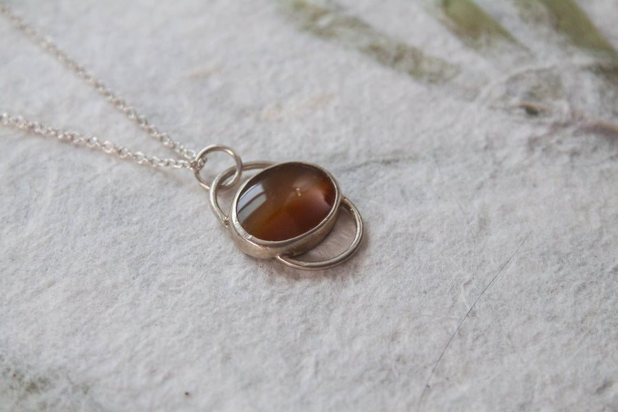 Mini Agate Orbit Pendant