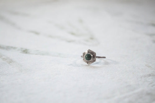 Malachite Shield Ring