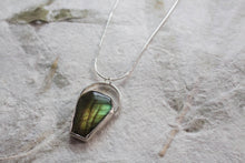 Load image into Gallery viewer, Labradorite Coffin Necklace