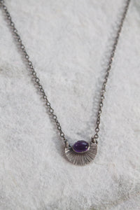 Amethyst Burst Necklace