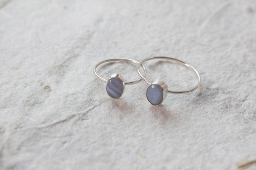Lace Agate Stacking Ring