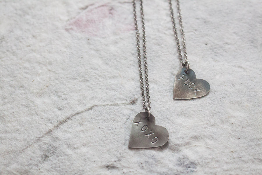 Heart Message Necklace